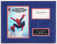 "John Romita Signed ""The Amazing Spider-Man"" 14x18 Custom Matted Cut Display (JSA COA) at PristineAuction.com"