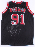 "Dennis Rodman Signed Jersey Inscribed ""H.O.F. 2011"" (JSA COA) at PristineAuction.com"
