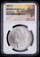 1884-O Morgan Silver Dollar - Stage Coach Label (NGC Brilliant Uncirculated) at PristineAuction.com