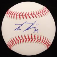 Kevin Kiermaier Signed OML Baseball (Palm Beach COA & JSA COA) at PristineAuction.com