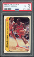 Michael Jordan 1986-87 Fleer Stickers #8 RC (PSA 8) at PristineAuction.com