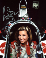 Ashley Force Signed NHRA 8x10 Photo (PSA COA) at PristineAuction.com