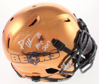 """Brian Urlacher Signed Bears Full-Size Authentic On-Field Hydro-Dipped Chrome Vengeance Helmet with Visor Inscribed """"HOF 2018"""" (Beckett COA) at PristineAuction.com"""
