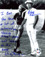 "Chevy Chase & Cindy Morgan Signed ""Caddyshack"" 8x10 Photo with Extensive Inscription (Beckett COA & PSA COA) at PristineAuction.com"