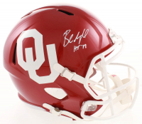 "Baker Mayfield Signed Oklahoma Sooners Full-Size Speed Helmet Inscribed ""HT '17"" (JSA COA) at PristineAuction.com"