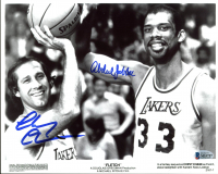 "Chevy Chase & Kareem Abdul-Jabbar Signed Lakers ""Fletch"" 8x10 Photo (Beckett COA) at PristineAuction.com"