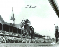 Ron Turcotte Signed 1973 Kentucky Derby 11x14 Photo with Secretariat (PSA COA) at PristineAuction.com