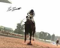 Ron Turcotte Signed 1973 Belmont Stakes Secretariat 11x14 Photo (PSA COA) at PristineAuction.com