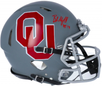 """Baker Mayfield Signed Oklahoma Sooners Full-Size Authentic On-Field AMP Alternate Speed Helmet Inscribed """"HT 17"""" (Fanatics Hologram) at PristineAuction.com"""