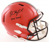"Baker Mayfield Signed Browns Full-Size Speed Helmet Inscribed ""Dawg Pound!"" (Radtke Hologram) at PristineAuction.com"