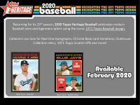 2020 Topps Heritage Baseball Case of (8) Retail Boxes at PristineAuction.com