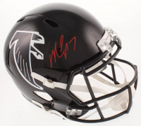Michael Vick Signed Falcons Full-Size Throwback Speed Helmet (JSA COA) at PristineAuction.com