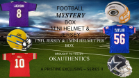 OKAUTHENTICS Pro Football Mini Helmet & Jersey Mystery Box Series II at PristineAuction.com