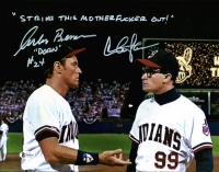 "Charlie Sheen & Corbin Bernsen Signed ""Major League"" 11x14 Photo Inscribed ""Strike This Mother****** Out!"" & ""Dorn"" (Beckett COA) at PristineAuction.com"