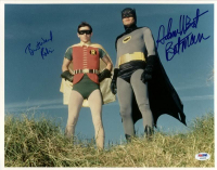 "Adam West & Burt Ward Signed ""Batman"" 11x14 Photo Inscribed ""Batman"" & ""Robin"" (PSA COA) at PristineAuction.com"