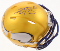 Anthony Barr Signed Vikings Blaze Speed Mini Helmet (Palm Beach COA) at PristineAuction.com
