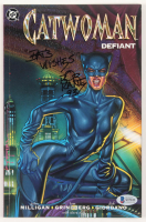 "Bob Kane Signed ""Batman: Catwoman Defiant"" Issue #1 DC Comic Book Inscribed ""Best Wishes"" & ""93"" (Beckett COA) at PristineAuction.com"