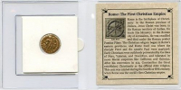 """Rome: """"The First Christian Empire"""" Roman Bronze Coin AD 306-410 at PristineAuction.com"""