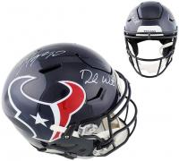 DeAndre Hopkins & Deshaun Watson Signed Houston Texans Full-Size Authentic On-Field SpeedFlex Helmet (Radtke COA) at PristineAuction.com