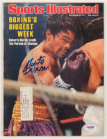 Roberto Duran Signed 1977 Sports Illustrated Magazine (PSA COA) at PristineAuction.com