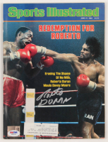 Roberto Duran Signed 1983 Sports Illustrated Magazine (PSA COA) at PristineAuction.com
