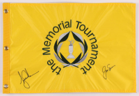 Tiger Woods & Jack Nicklaus Signed The Memorial Tournament Pin Flag (PSA LOA) at PristineAuction.com