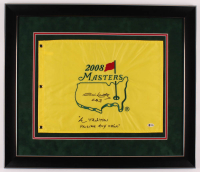 """Jim Nantz Signed 2008 Masters 27.5x23.5 Custom Framed Pin Flag Display Inscribed """"CBS"""" & """"A Tradition Unlike Any Other"""" (Beckett COA) at PristineAuction.com"""