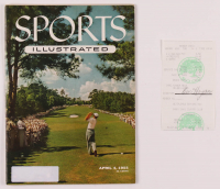 Lot of (2) Golf Flats with (1) 1955 Sports Illustrated Magazine & (1) Ben Hogan Signed Receipt (JSA ALOA) at PristineAuction.com