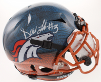 Drew Lock Signed Broncos Full-Size Hydro-Dipped Vengeance Helmet with Mirror Visor (Beckett COA) at PristineAuction.com