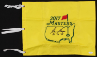 """Gary Player Signed 2017 Masters Pin Flag Inscribed """"61, 74, 78"""" (JSA COA) at PristineAuction.com"""