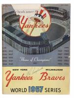 Roy Campanella Signed 1957 World Series Program (Beckett LOA) at PristineAuction.com