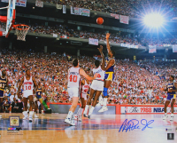Magic Johnson Signed Lakers 1988 Finals 16x20 Photo (Beckett COA) at PristineAuction.com