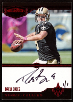Drew Brees 2018 Panini Honors Recollection Collection #3170 / 2016 Plates & Patches Signal Callers Red Autograph #1/1 at PristineAuction.com