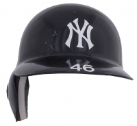 Andy Pettitte 2012 Game-Used Yankees Full-Size Authentic On-Field Batting Helmet (Steiner LOA & MLB Hologram) at PristineAuction.com