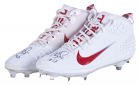 Pair of (2) Mike Trout Signed 2019 Angels Game-Used Baseball Cleats with Inscription (Anderson LOA) at PristineAuction.com