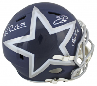 Troy Aikman, Emmitt Smith & Michael Irvin Signed Cowboys Full-Size AMP Alternate Speed Helmet (Beckett COA) at PristineAuction.com