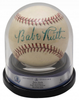 Babe Ruth Signed Reach Special Baseball with Display Case (BGS Encapsulated & JSA LOA) at PristineAuction.com