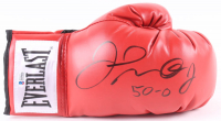 """Floyd Mayweather Jr. Signed Everlast Boxing Glove Inscribed """"50 - 0"""" (Beckett COA) at PristineAuction.com"""