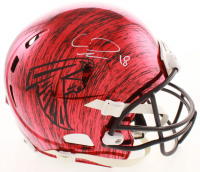 Calvin Ridley Signed Falcons Full-Size Authentic On-Field Hydro-Dipped Helmet (Beckett COA) at PristineAuction.com