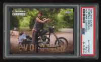 Norman Reedus Signed 2017 Topps Walking Dead Evolution #17 Daryl Dixon Trading Card (PSA Encapsulated) at PristineAuction.com