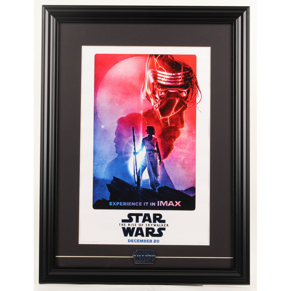Star Wars The Rise Of Skywalker Imax 17 5x23 5 Custom Framed Poster Display With Star Wars Opening Night Only Pin Pristine Auction