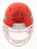 "Ricky Williams Signed Dolphins AMP Alternate Speed Mini Helmet Inscribed ""Smoke Weed Everyday!"" (JSA COA) at PristineAuction.com"