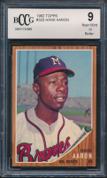 Hank Aaron 1962 Topps #320 (BCCG 9) at PristineAuction.com