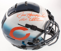 """Dan Hampton Signed Bears Full-Size Authentic On-Field Hydro-Dipped F7 Helmet Inscribed """"HOF 2002"""" with HOF Sticker (Beckett COA) at PristineAuction.com"""