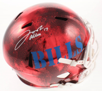 Josh Allen Signed Bills Full-Size Hydro-Dipped Speed Helmet (Beckett COA) at PristineAuction.com