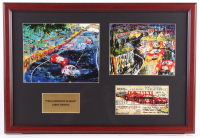 "LeRoy Neiman ""The 24 Hours of Le Mans"" 16x23.5 Custom Framed Print Display at PristineAuction.com"