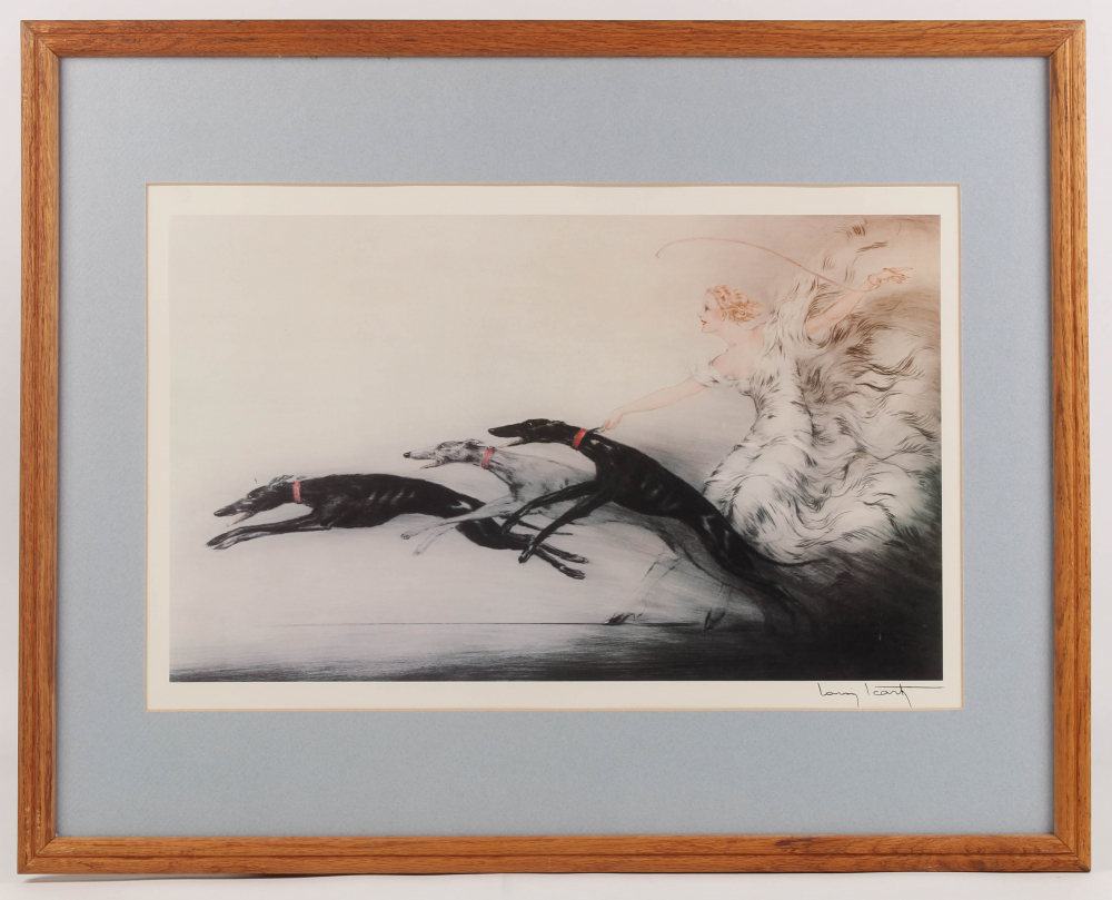 "Louis Icart ""Speed"" 23.5x29.5 Custom Framed Print Display at PristineAuction.com"