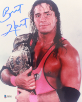Bret Hart Signed WWE 8x10 Photo (Beckett COA) at PristineAuction.com