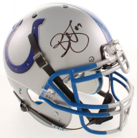 Reggie Wayne Signed Colts Full-Size Authentic On-Field Hydro-Dipped Helmet (Beckett COA) at PristineAuction.com