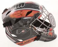 """Bernie Parent Signed Flyers Full-Size Goalie Mask Inscribed """"HOF 84"""" (Schwartz COA) at PristineAuction.com"""